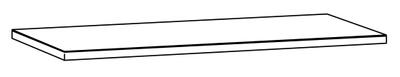Benkeplate 186 x 61 grå
