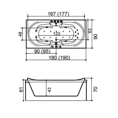 Massasjebad W0829 180 System 3