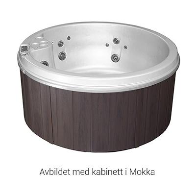 VikingBad Viking II utespa Perlehvit/Mokka m/LED