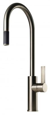Tapwell ARM185 Brushed Nickel Kjøkkenbatteri m. uttrekk