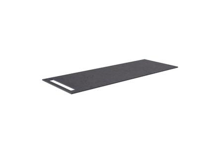 Benkeplate HPL 130 cm med håndkleholder, sort antrasitt