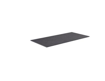 Benkeplate HPL 100 cm, sort antrasitt