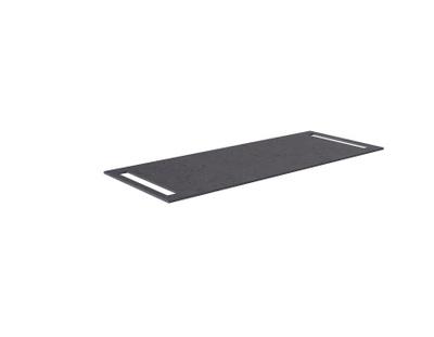 Benkeplate HPL 120 cm med håndkleholder begge sider, sort antrasitt