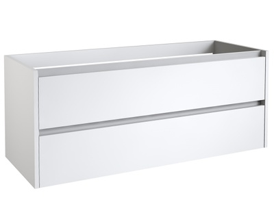 Eris benkeskap, 120 cm hvit høyglans