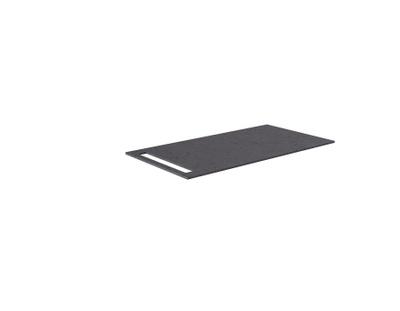 Benkeplate HPL 90 cm med håndkleholder, sort antrasitt
