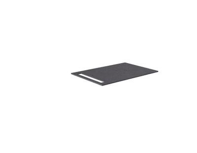 Benkeplate HPL 70 cm med håndkleholder, sort antrasitt