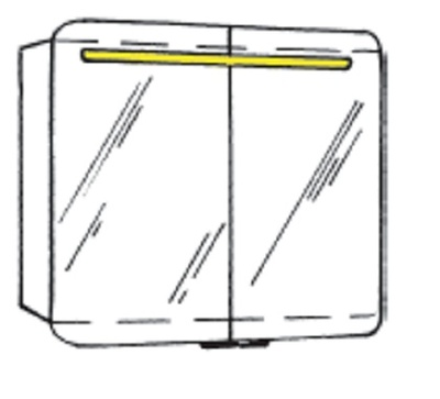 White Speilskap, 80 x 75 x 16 cm