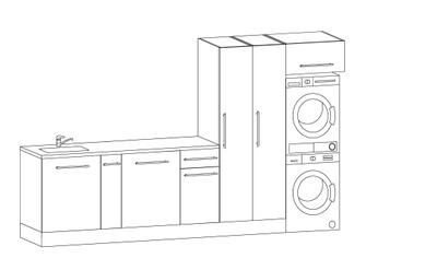 Vaskeromsinnredning, Forslag kombinasjon 326 cm