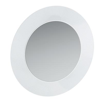 Speil. med led-belysning, sølv