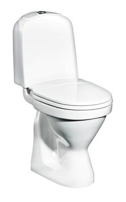 Toalett, P-lås, enkelspyling, høy modell, 2350