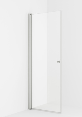 VikingBad LIAM dusjdør, rett 60x195 sølv/klart