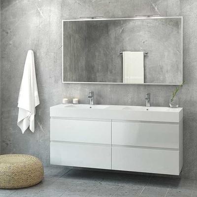 140 DBL baderomsmøbel, hvit høyglans