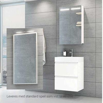 VikingBad Mie 50 Slim baderomsmøbel, hvit hg