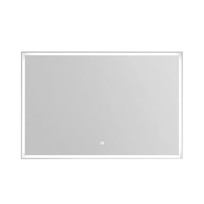 Korsbakken Rammespeil 120 med omsluttende LED-lys, IP44, hvit ramme