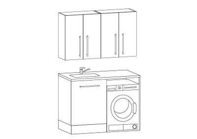 Vaskeromsinnredning, Forslag kombinasjon 126 cm