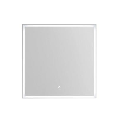 Rammespeil 80 med omsluttende LED-lys, IP44, hvit ramme