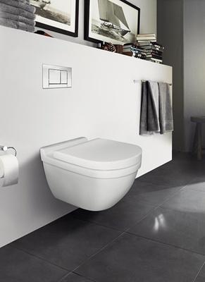 485X360mm compact veggh. toalett. m/skjult feste