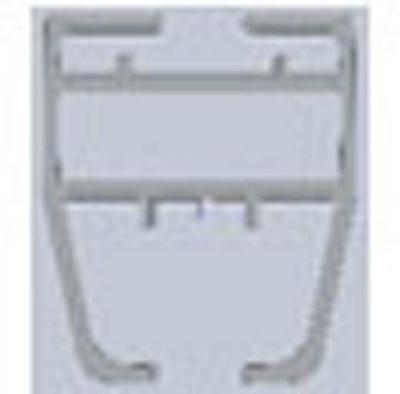 VikingBad VB MATS justerbar veggprofil alu. m/magnet 135°