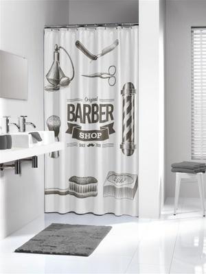 Sealskin Sealskin dusjforheng Forheng Barber 180x200 Polyester Sort