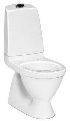 Gustavsberg Nautic Toalett, skjult S-lås, enkelspyling, f/liming, 5500