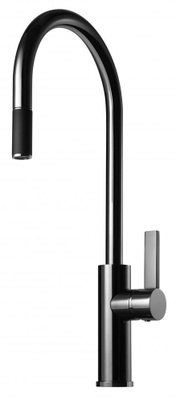 Tapwell ARM185 Black Chrome Kjøkkenbatteri m. uttrekk