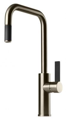 Tapwell ARM985 Brushed Nickel/Sort Kjøkkenbatteri