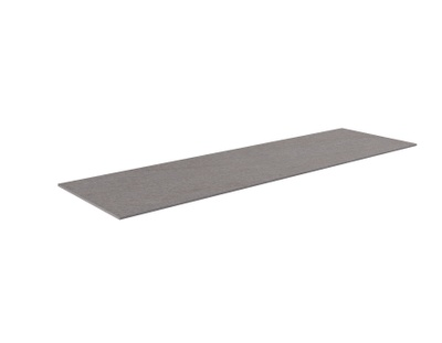 Benkeplate HPL  160 cm, grå antrasitt