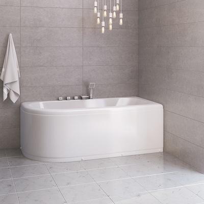 Badekar W0827B 180, Høyre m/badekarkran