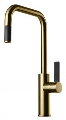 Tapwell ARM985 Honey Gold/Sort Kjøkkenbatteri