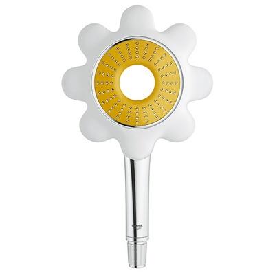 Flower hånddusj, Hvit/gul