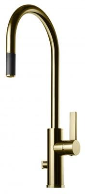 Tapwell ARM885 Honey Gold Kjøkkenbatteri m. uttrekk og avst.
