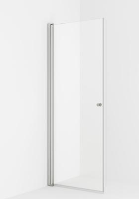 VikingBad LIAM dusjdør, rett 90x195 sølv/klart