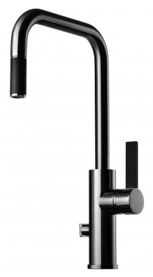Tapwell ARM887 Krom/Sort Kjøkkenbatteri m. uttrekk og avst.