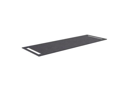 Benkeplate HPL 140 cm med håndkleholder begge sider, sort antrasitt