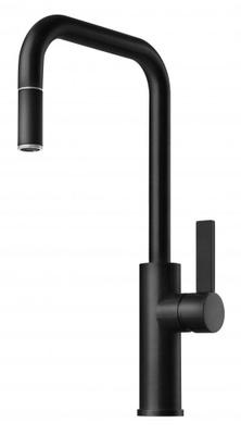 Tapwell ARM985 Matt Sort Kjøkkenbatteri m. uttrekk