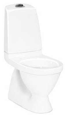 Toalett, skjult S-lås, enkelspyling, 5500