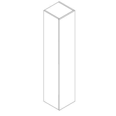 Mie 176 høyskap, hvit høyglans
