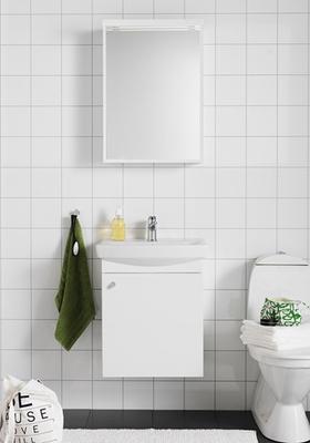 Hafa Life 500 kompl m speil hvit m dør