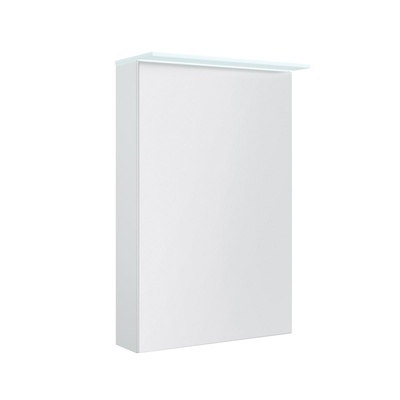 Korsbakken Speilskap med lystopp, hvit høyglans