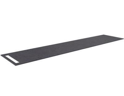 Benkeplate HPL 210 cm med håndkleholder, sort antrasitt