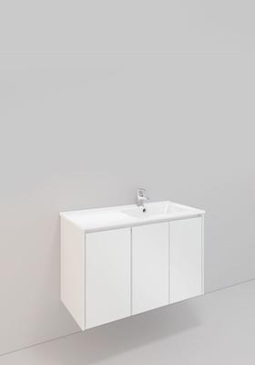Noro Modell 77, 900 Høyre, H600, Hvit Matt, 3 Dører, Lav Porselen