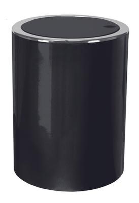 Kleine Wolke Clap Søppelbøtte med Vippelokk - 5L Black