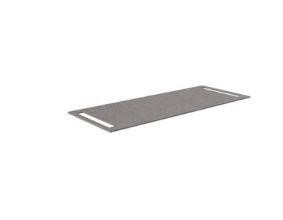Benkeplate HPL 120 cm med håndkleholder begge sider, grå antrasitt