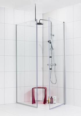 Noro Dusjhjørne Frost Concept Vegg 800 Klar Dør 900 Klar