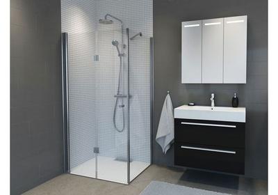 Dusjhjørne, m/100cm dusjdør leddet venstre + 70cm glassfelt