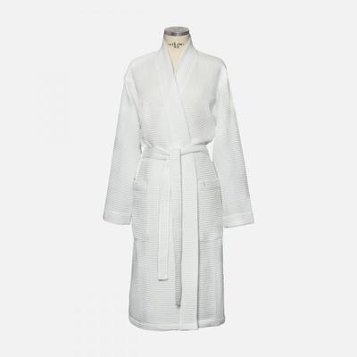 Möve Wafflepiquee Kimono white M