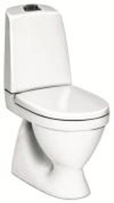 Toalett, skjult S-lås, dobbelspyling, f/liming, 5500