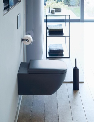 Duravit Happy D.2 Toalettsete med SoftClose, Antrasitt matt