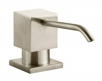 Tapwell DOM228 Brushed Nickel Såpepumpe firkantet