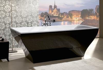 Villeroy & boch norge Labelle badekar Sort matt utv.  180X80